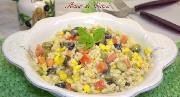 Salade variée d'orge perlé