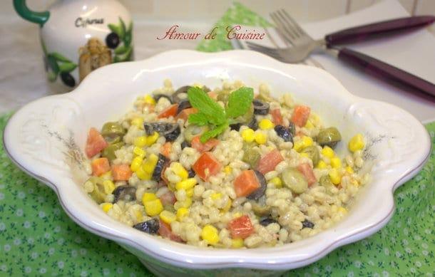 Salade d'orge perlé varié