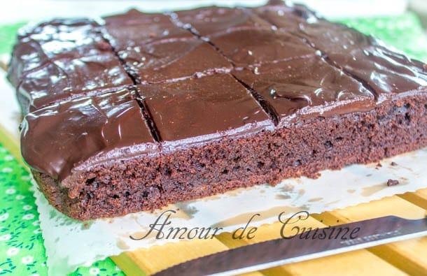 brownie au mascarpone et ganache au chocolat