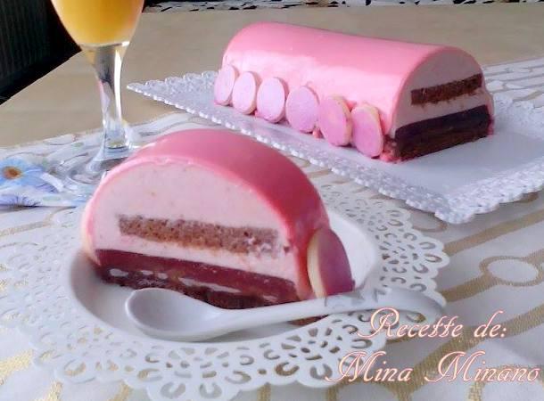 buche framboise chocolat