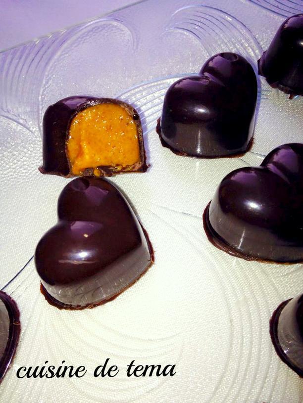 Chocolats fourr s au pralin maison amour de cuisine for Amour de cuisine 2015