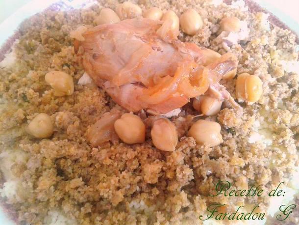 couscous bel maamar a la viande hachée