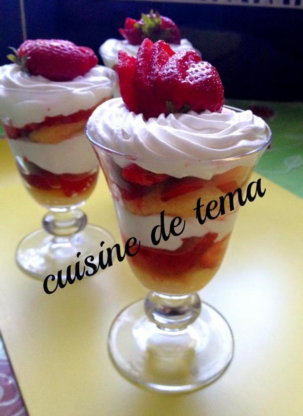 faux tiramisu aux fraises
