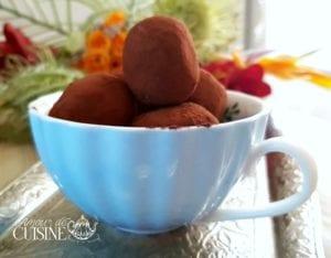 truffes au chocolat, idée cadeaux gourmands de Noël