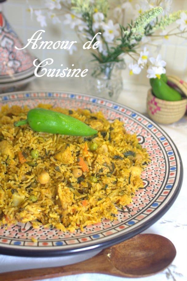 riz djerbien au poulet