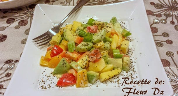 Salade variée Céleri et mangue
