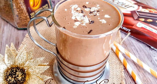 smoothie chaud au café-mocha