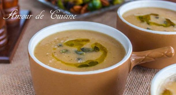Soupe de navet grillé