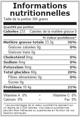 calorie soupe au choux