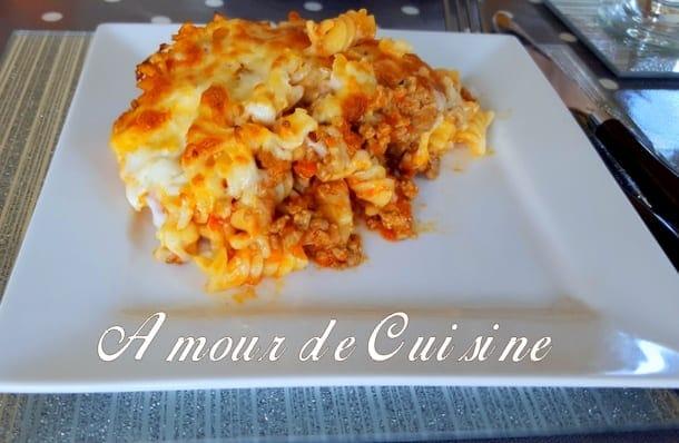 Gratin de pates a la bolognaise express amour de cuisine - Video amour dans la cuisine ...