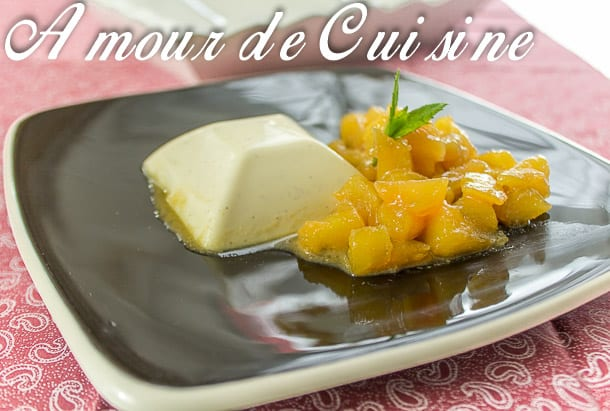 panna cotta pomme caramelisee