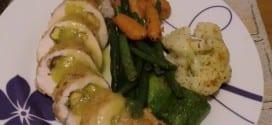 poulet farci a la mangue et pistache
