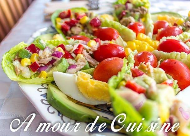 salade variée et poivron et thon 1