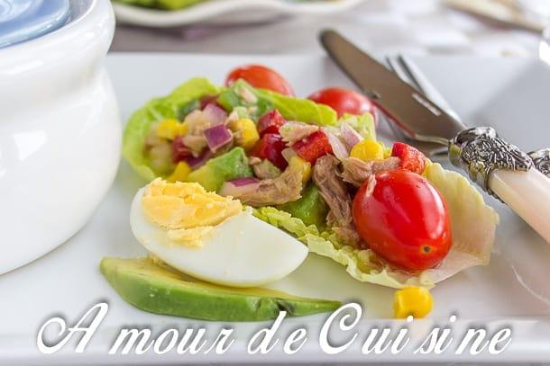 salade variée et poivron et thon 2