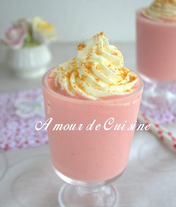 Smoothie cheesecake aux fraises