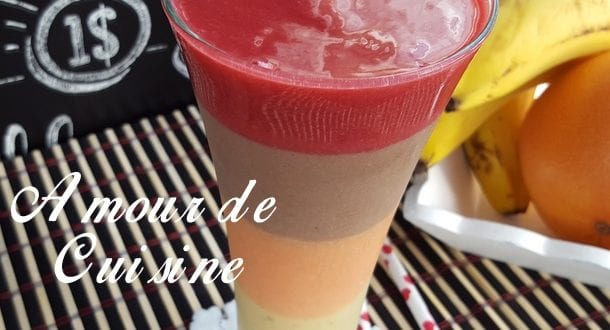 Smoothie multicolore et multi saveurs