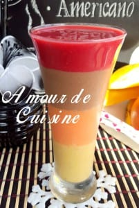 smoothie multicolore multi saveurs