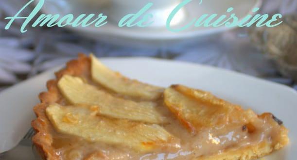 tarte aux pommes a la creme de marron