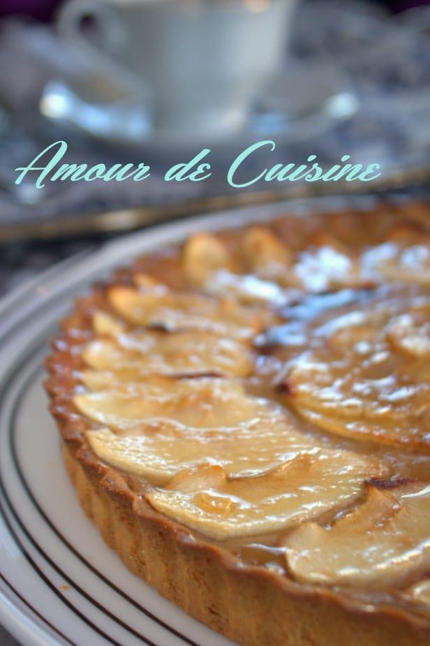 tarte aux pommes a la creme de marrons