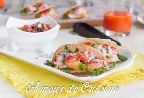 Mini tacos aux crevettes 3