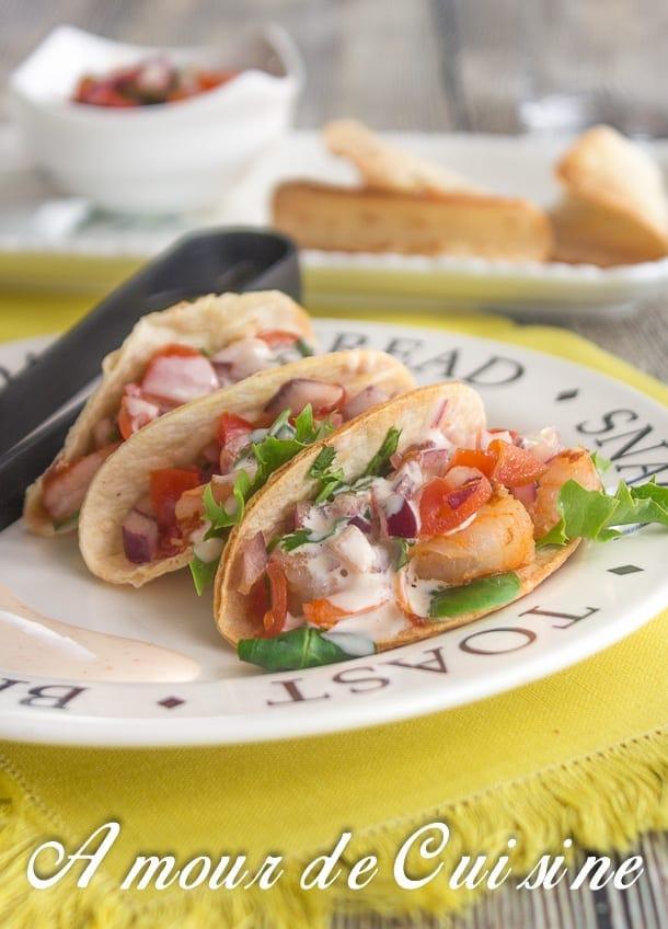 Mini tacos aux crevettes 4