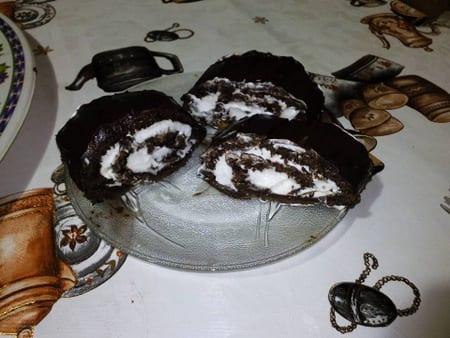 buche au miroir chocolat