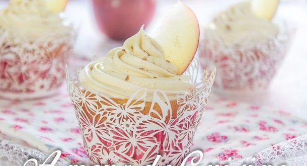Cupcakes aux pommes et mascarpone