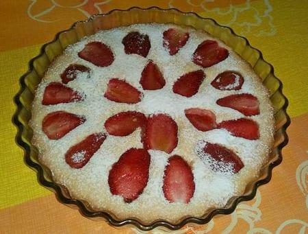 gateau sablé aux fraises Sima