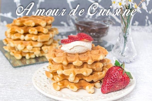 Gaufres liegeoises amour de cuisine for 1 amour de cuisine chez soulef