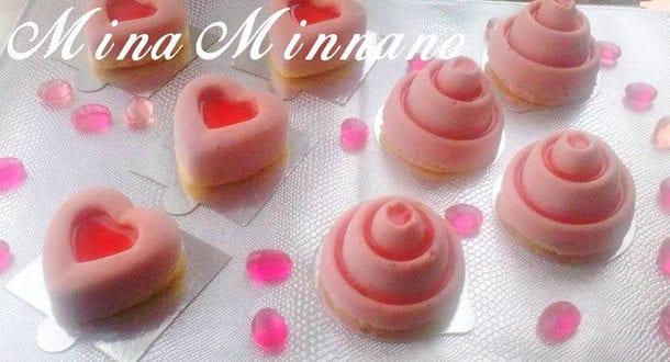Mini bavarois aux fraises