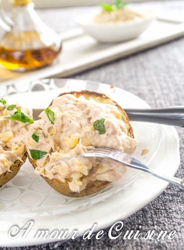 Pomme de terre au four et rillettes de thon amour de cuisine - Pomme de terre en robe de chambre au four ...