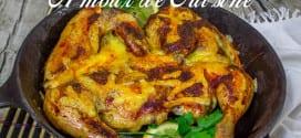 poulet rôti et sa croûte au fromage