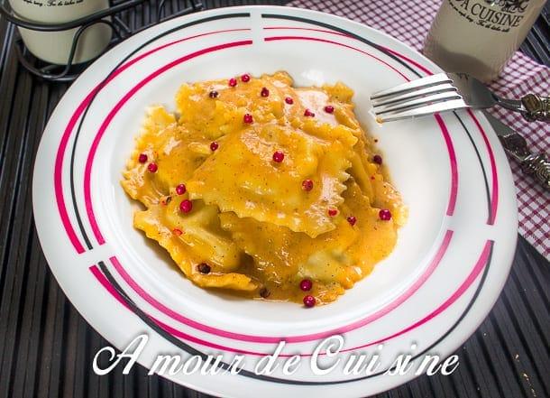 raviolis au saumon et sauce rosée 1