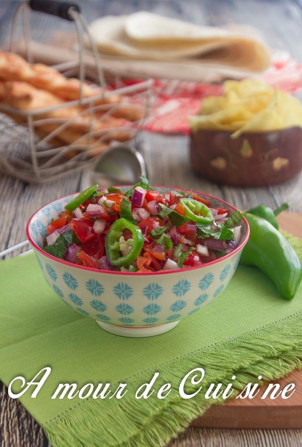 recette pico de gallo ou salsa a la tomate