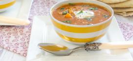 soupe de lentilles corail à la patate douce