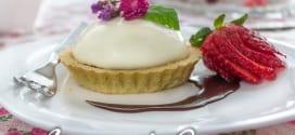tartelettes chocolat panna cotta a la fleur d'oranger