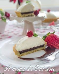 tartelette chocolat et pannacotta a l'eau de fleur d'oranger 2