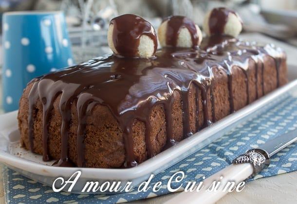 cake au chocolat et boulettes de noix de coco