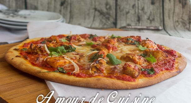 pizza au poulet tikka massala