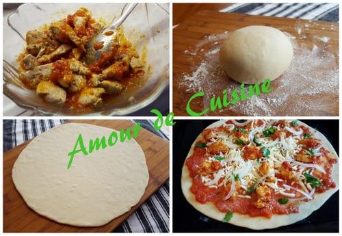 pizza au poulet tikka massala amour de cuisine