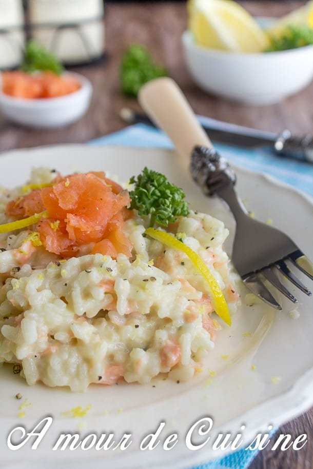 risotto au saumon fumé 3