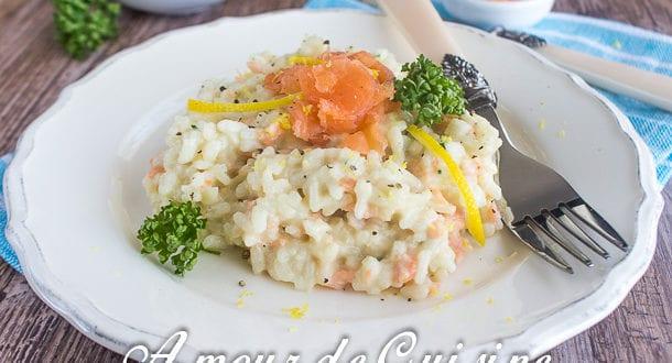 risotto au saumon fumé