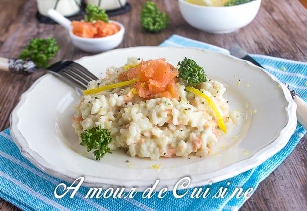 risotto au saumon fumé 4