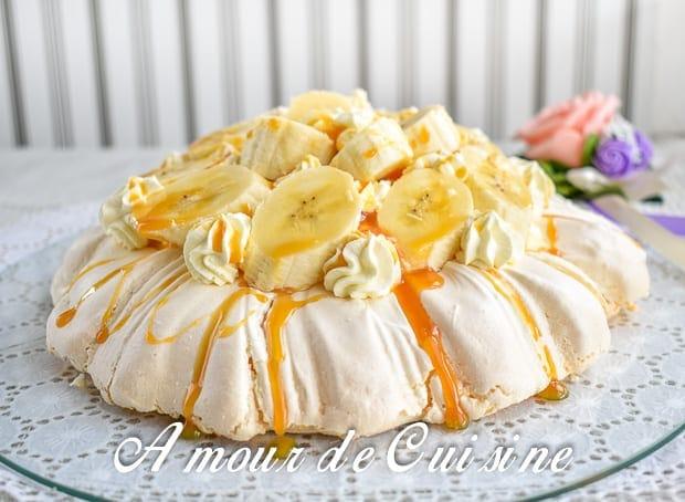 Banoffee pavlova a la banane et caramel 2