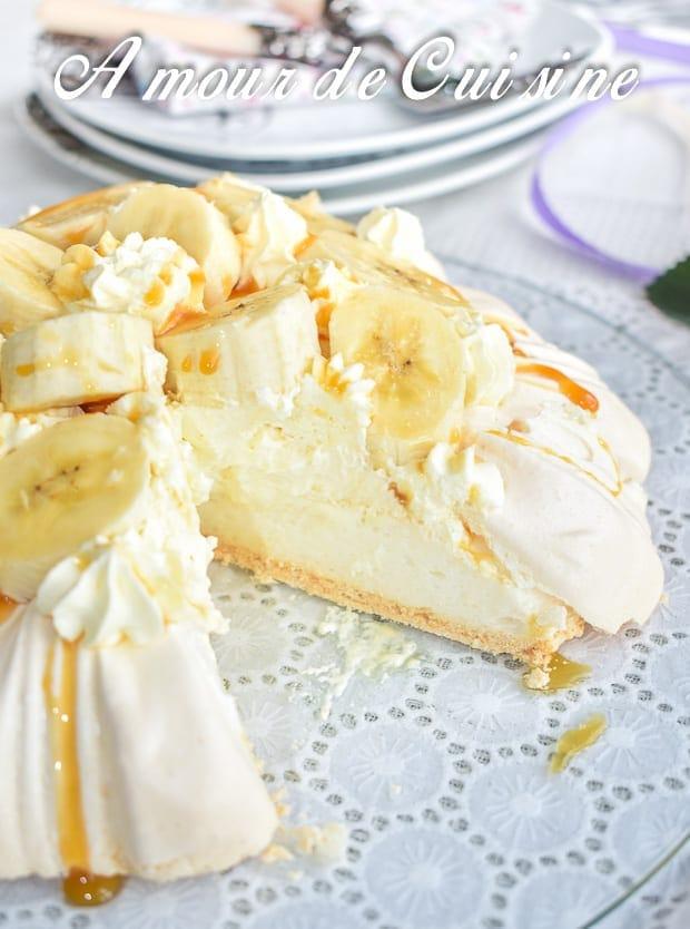 Banoffee pavlova a la banane et caramel 5