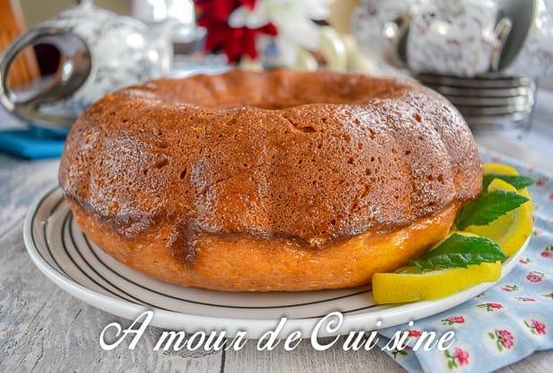 bundt cake au citron et ricotta