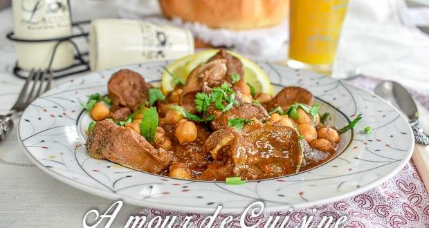 Chtitha lsane tajine de langue d 39 agneau amour de cuisine for Amour de cuisine de sihem