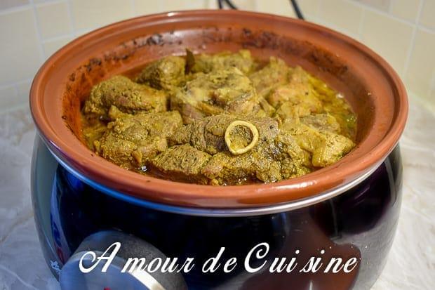 Tajine de boulettes viande hachée champignons et olives Le Blog cuisine de