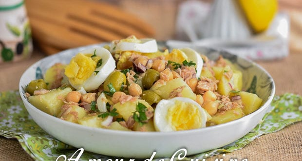 salade portugaise au thon et pois chiche