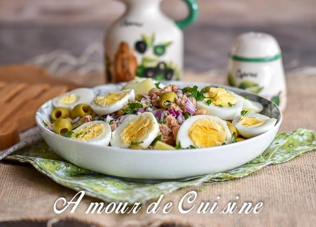 Salade portugaise au thon et pois chiche amour de cuisine - Comment cuisiner des petit pois en boite ...